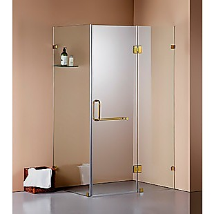 1100 x 700mm Frameless 10mm Glass Shower Screen By Della Francesca