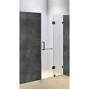110 x 200cm Wall to Wall Frameless Shower Screen 10mm Glass By Della Francesca