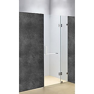 90 x 200cm Wall to Wall Frameless Shower Screen 10mm Glass By Della Francesca