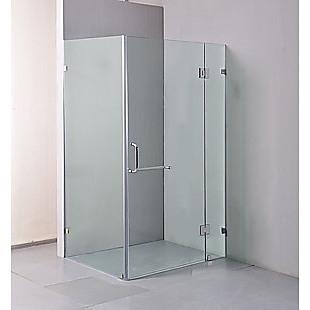 900 x 1000mm Frameless 10mm Glass Shower Screen By Della Francesca