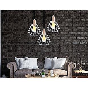 Wood Pendant Light Bar White Lamp Kitchen Modern Ceiling Lighting