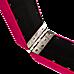 2.4m (8FT) Gymnastics Folding Balance Beam Pink Synthetic Suede