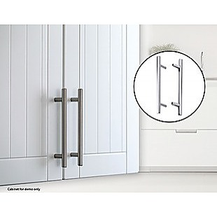 Solid Stainless Steel Polished Chrome Kitchen Cabinet Drawer Pull Door Handles 10-Pack