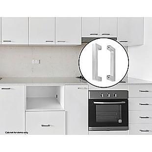 Brushed Nickel Stainless Steel Kitchen Cabinet Square Drawer Pull Door Handles 15-Pack