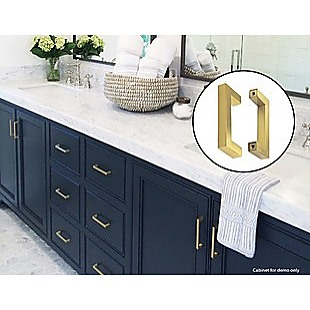 15x Brushed Brass Drawer Pulls Kitchen Cabinet Handles - Gold Finish 96mm