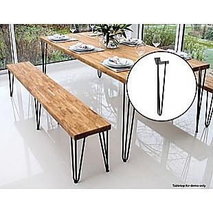 Set of 4 Industrial Retro Hairpin Table Legs 12mm Steel Bench Desk 41cm Leg