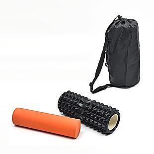 2 IN 1 Physio EVA PVC Foam Yoga Roller Gym Back Training Exercise Massage