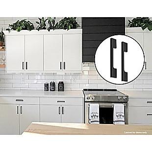 5 x 96mm Kitchen Handle Cabinet Cupboard Door Drawer Handles square Black furniture pulls