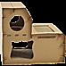 Cat Cardboard House Tree Tower Condo Scratcher Pet Post Pad Mat Furniture
