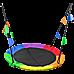 1m Tree Swing in Multi-Color Rainbow Kids Indoor/Outdoor Round Mat Saucer Swing
