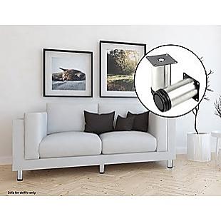 4x 10cm Adjustable Round Cupboard Table Sofa Bed Feet Furniture Leg