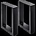 2x Coffee Dining Table Legs Steel Industrial Vintage Bench Metal Box 40CM