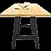 2x Rustic Dining Table Legs Steel Industrial Vintage 71cm