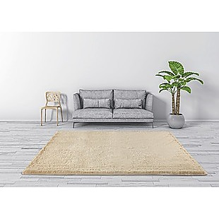 230x200cm Floor Rugs Large Shaggy Rug Area Carpet Bedroom Living Room Mat - Beige
