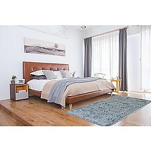 230x160cm Floor Rugs Large Shaggy Rug Area Carpet Bedroom Living Room Mat - Grey