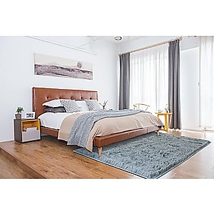 230x200cm Floor Rugs Large Shaggy Rug Area Carpet Bedroom Living Room Mat - Grey