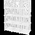 12 Cube Wire Grid Organiser Bookcase Storage Cabinet Wardrobe Closet White