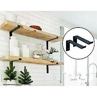 Floating Wall Shelf Brackets Heavy Duty Rustic Industrial 4-Pack