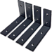 Heavy Duty Shelf Bracket, 15cm x 25cm 4-Pack
