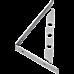 L Bracket Heavy Duty Stainless Steel Solid Shelf Support Corner Brace 2-Pack