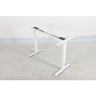 Palermo Standing Desk Sit Stand Height Adjustable Motorised White Frame Only - Dual Motor