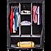 Large Portable Clothes Closet Canvas Wardrobe Storage Organizer with Shelves