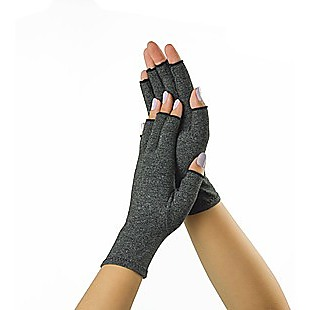 Arthritis Gloves Compression Joint Finger Hand Wrist Support Brace - Large