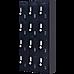 12-Door Locker for Office Gym Shed School Home Storage