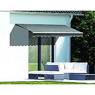 Motorised Outdoor Folding Arm Awning Retractable Sunshade Canopy Grey 3.0m x 2.5m