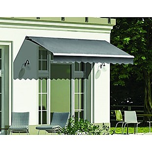 Outdoor Folding Arm Awning Retractable Sunshade Canopy Grey 3.0m x 2.5m