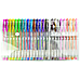 Glitter Gel Pens (100 pack) with 2.5X More Ink - Craft, Kids & Adult Colouring