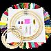 Embroidery Starter Kit Cross Stitch Kit DIY Hand Craft Stitch 50 Color Kit