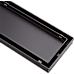 800mm Tile Insert Shower Bathroom Black Grate Drain w/Centre outlet Floor Waste