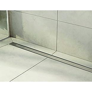 1000mm Tile Insert Bathroom Shower Stainless Steel Grate Drain w/Centre outlet Floor Waste