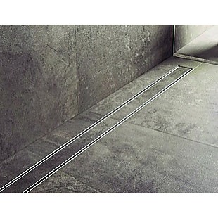 1200mm Tile Insert Bathroom Shower Stainless Steel Grate Drain w/Centre outlet Floor Waste
