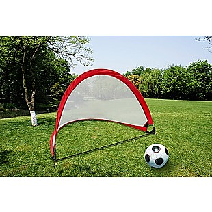 Portable Kids Soccer Goals Set – 2 Pop Up Soccer Goals, Cones, Goal Carry Bag