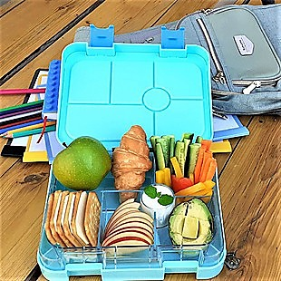 Bento Lunch Box Kids Leakproof Food Container School Picnic - Blue