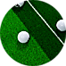 Indoor Practice Putting Green 2.5m Mat Inclined Ball Return Fake Grass 2 Holes