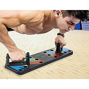 9 in 1 Push Up Board Yoga Bands Fitness Workout Train Gym Exercise Pushup Stand