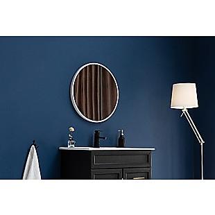 70cm Round Wall Mirror Bathroom Makeup Mirror by Della Francesca