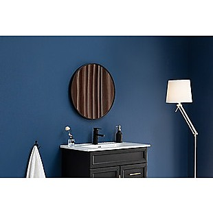80cm Round Wall Mirror Bathroom Makeup Mirror by Della Francesca