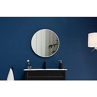 90cm Round Wall Mirror Bathroom Makeup Mirror by Della Francesca