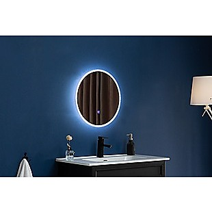 60cm LED Wall Mirror Bathroom Mirrors Light Decor Round