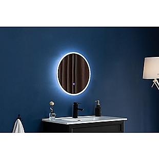 80cm LED Wall Mirror Bathroom Mirrors Light Decor Round