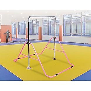 Kids Gymnastics Bars Training Horizontal Bar Monkey Kip Bar Pink