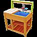 Children's Outdoor Play Mud Kitchen Sand Pit with Display Shelf