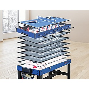 4FT 12-in-1 Combo Games Tables Foosball Soccer Basketball Hockey Pool Table Tennis