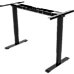 Palermo Standing Desk Sit Stand Height Adjustable Motorised Black Frame Only - Dual Motor