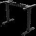 Palermo Standing Desk Sit Stand Height Adjustable Motorised Black Frame Only - Dual Motor