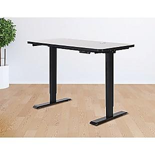 Palermo Standing Desk Sit Stand Height Adjustable Motorised 120cm Table Dual Motor
